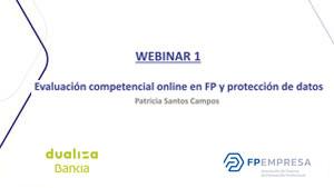 Evaluación competencial online en FP y protección de datos