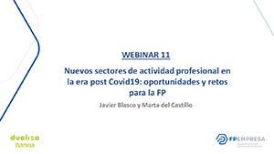 Nuevos sectores de actividad profesional en la era post Covid19: oportunidades y retos para la FP