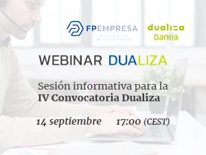 Seminario web informativo sobre la IV Convocatoria Dualiza