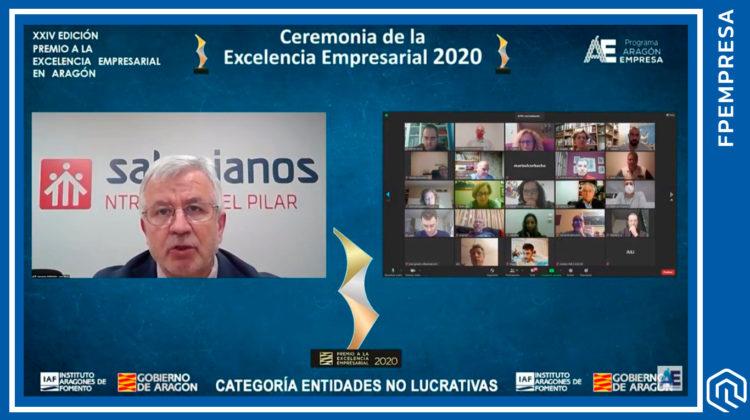 Salesianos Zaragoza, centro asociado a FPEmpresa, Premio a la Excelencia Empresarial 2020