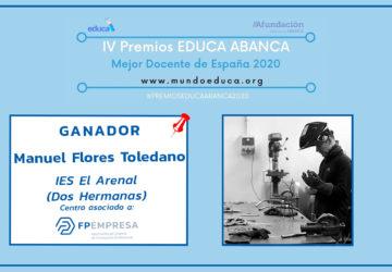 """Manuel Flores Toledano se alza con el """"Goya"""" de la Educación 2020"""