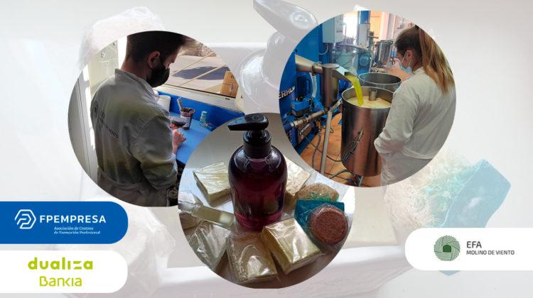 La EFA Molino de Viento da valor a los derivados de la industria del aceite y del vino