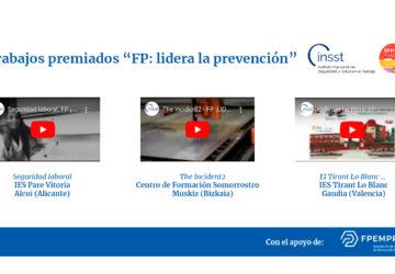 """3 centros asociados premiados en el proyecto del INSST """"FP: lidera la prevención"""""""